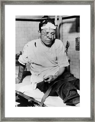 James Peck, Bleeding On A Hospital Framed Print