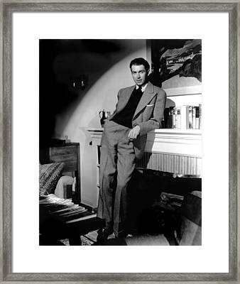 James Stewart, Portrait Framed Print