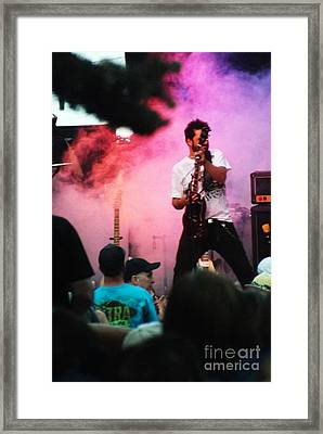 Framed Print featuring the photograph Jammin by Gary Brandes