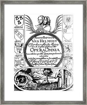 Jan Baptist Van Helmonts, Opera Omnia Framed Print by Science Source