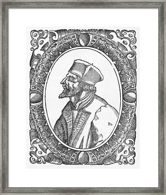 Jan Hus, Czech Religious Reformer Framed Print by Middle Temple Library