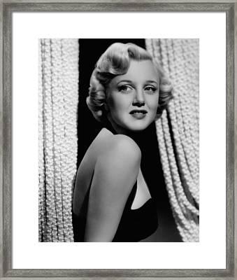 Jan Sterling, 1940s Framed Print by Everett