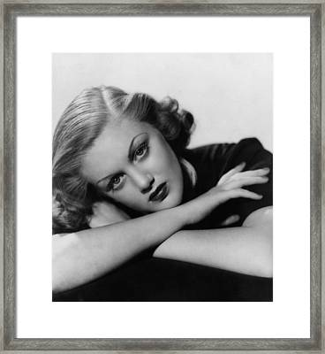 Jan Sterling, Late 1930s Framed Print by Everett