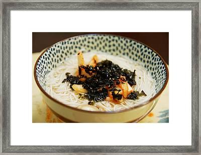 Janchi Guksu - Korean Noodles Framed Print by Sue Hwang