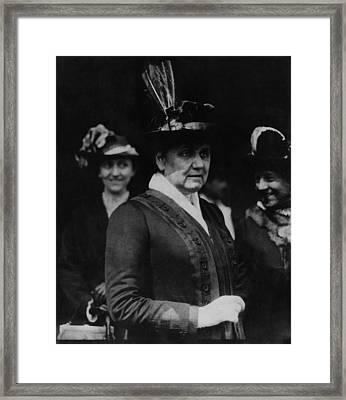 Jane Addams 1860-1935, Founder Of Hull Framed Print by Everett
