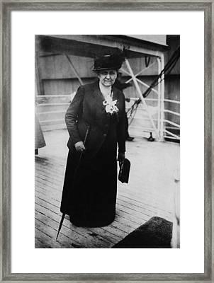 Jane Addams 1860-1935, Returning Framed Print by Everett