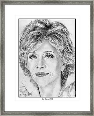 Jane Fonda In 2005 Framed Print