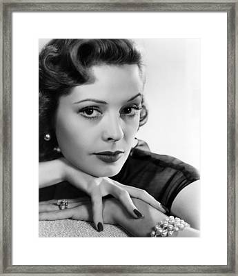 Jane Greer, 1950s Framed Print by Everett