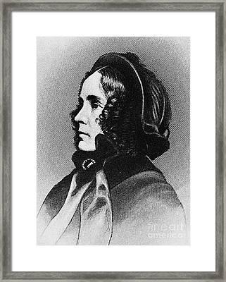 Jane Pierce (1806-1863) Framed Print by Granger
