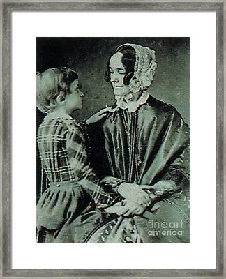 Jane Pierce Framed Print by Photo Researchers