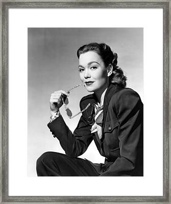 Jane Wyman, Warner Brothers, 1947 Framed Print by Everett