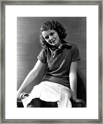 Janet Gaynor, Fox Film Corp, 1931 Framed Print by Everett
