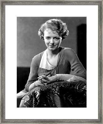 Janet Gaynor, Fox Film Corp, 1932 Framed Print by Everett