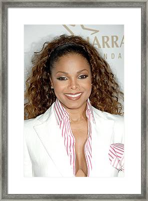 Janet Jackson At Arrivals For 19th Framed Print by Everett