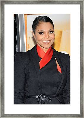 Janet Jackson At Arrivals For For Framed Print by Everett