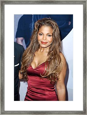 Janet Jackson At Arrivals For Why Did I Framed Print by Everett