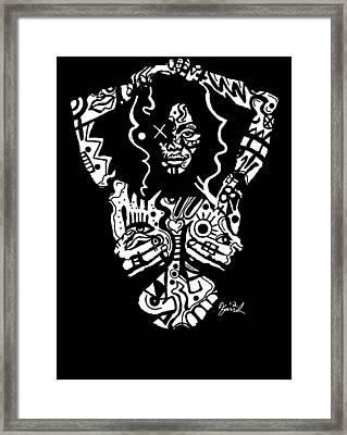 Janet Jackson By Kamoni-khem Framed Print by Kamoni Khem
