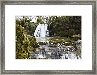 Janets Foss Malham Yorkshire Dales Uk Framed Print by Nicholas Freeman