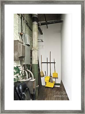 Janitor Closet Framed Print By Eddy Joaquim