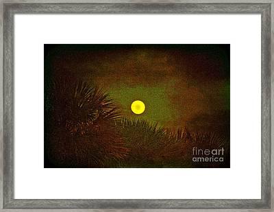 January 2012 Full Moon Framed Print by Susanne Van Hulst