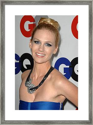 January Jones At Arrivals Framed Print