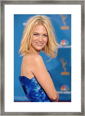 January Jones At Arrivals For Academy Framed Print by Everett