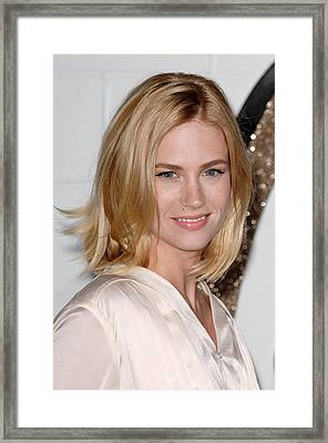 January Jones At Arrivals For Chloe Los Framed Print