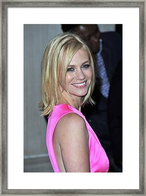 January Jones At Arrivals For Tommy Framed Print