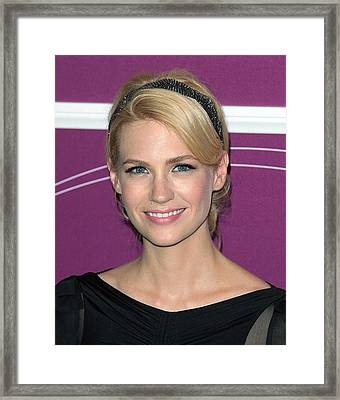 January Jones In Attendance Framed Print by Everett