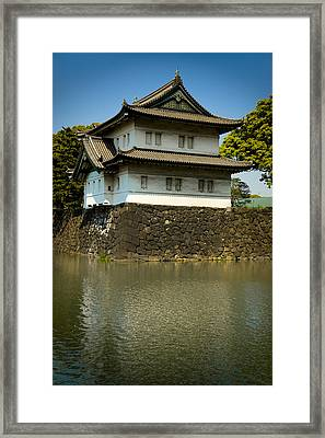 Japan Castle Framed Print by Sebastian Musial