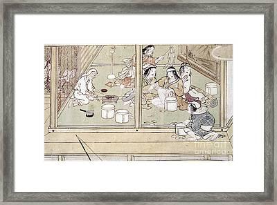 Japan: Childbirth, 1329 Framed Print