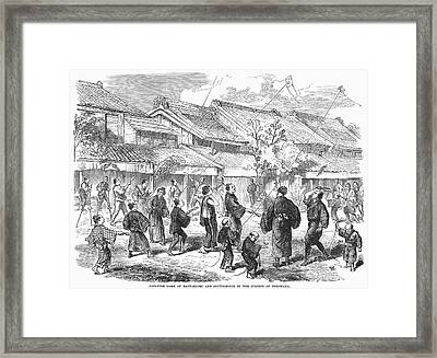 Japan: Games, 1865 Framed Print