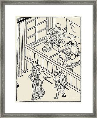 Japan: Samurai, 1700 Framed Print by Granger