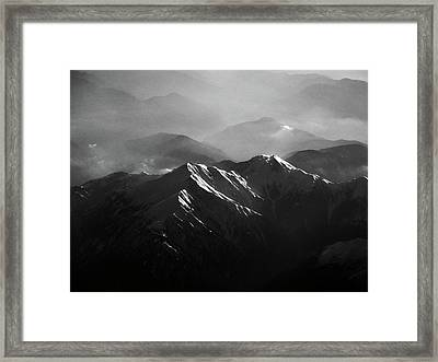 Japanese Alps Framed Print by José Rentería Cobos photography