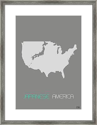 Japanese America Framed Print by Naxart Studio