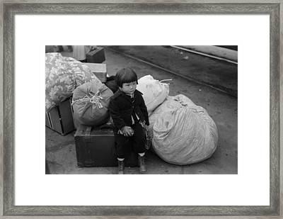 Japanese-american Internee. Little Framed Print by Everett
