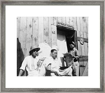 Japanese American Men From Seattle Framed Print by Everett