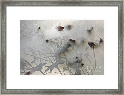 Japanese Anemones With Texture Framed Print by Ruby Hummersmith