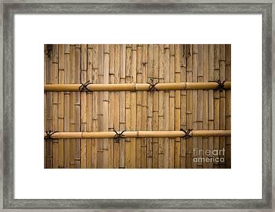 Japanese Bamboo Fence Framed Print