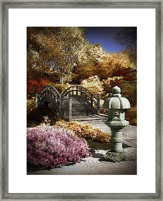 Japanese Foot Bridge Framed Print by Patrick Pope