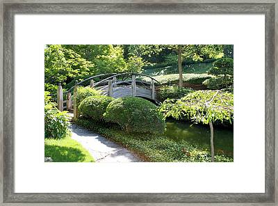 Japanese Garden Bridge Framed Print