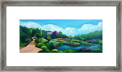 Framed Print featuring the painting Japanese Gardens - Donated As A Raffle Prize July 2016 by Therese Alcorn