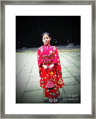 Japanese Girl Framed Print by Eena Bo