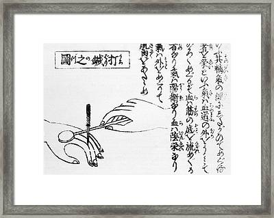 Japanese Illustration Of Moxa Framed Print by Science Source