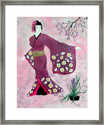 Japanese Lady Framed Print