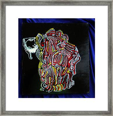 Framed Print featuring the painting Japanese Opera - Noh by Gloria Ssali