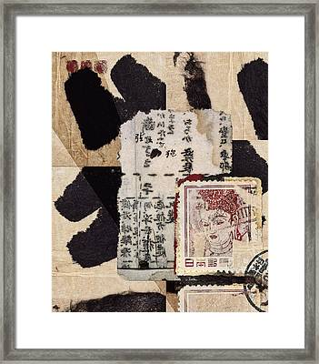 Japanese Papers Framed Print by Carol Leigh