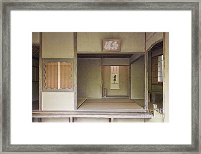 Japanese Tea Room Framed Print by Rob Tilley