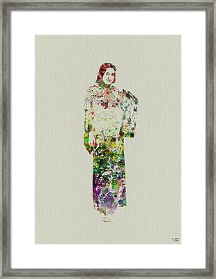 Japanese Woman Dancing Framed Print