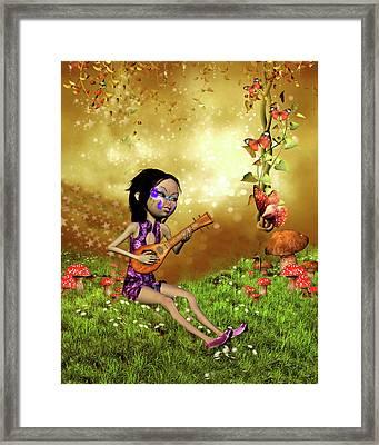 ..japanese Woman Framed Print by John Junek